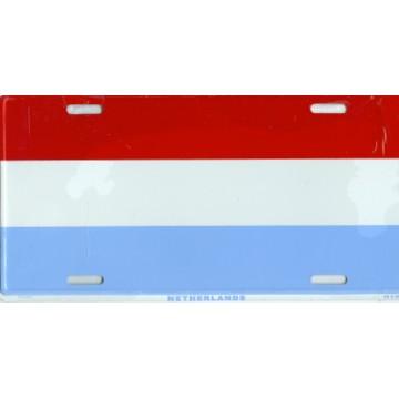 Netherlands Flag Metal License Plate