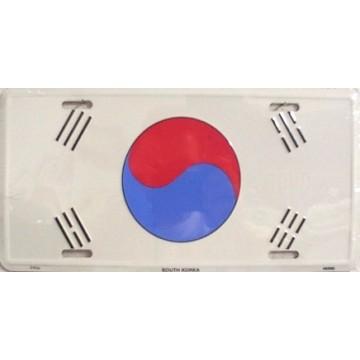 South Korea Flag License Plate