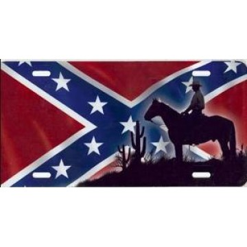 Rebel Cowboy Airbrush License Plate