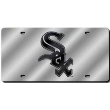 Chicago White Sox Silver Laser License Plate