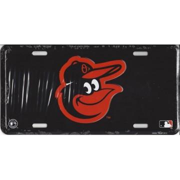 Baltimore Orioles Black License Plate