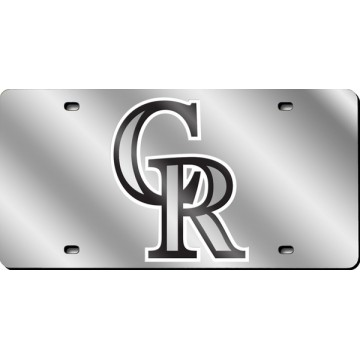 Colorado Rockies Silver Laser License Plate