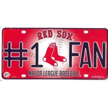 Boston Red Sox #1 Fan License Plate