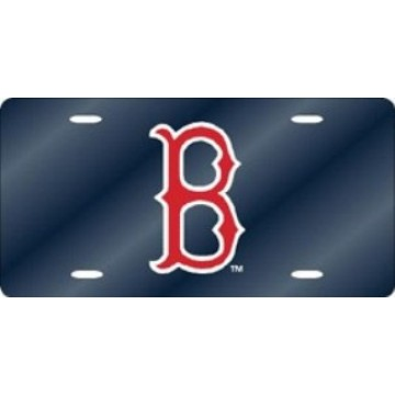 Boston Red Sox Blue Laser License Plate