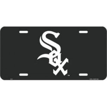 Chicago White Sox (Black) License Plate