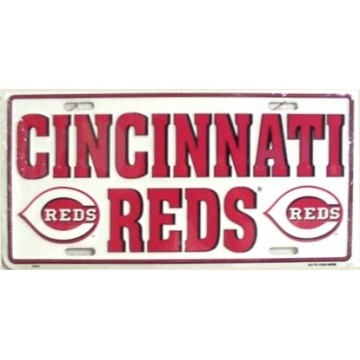Cincinnati Reds Metal License Plate
