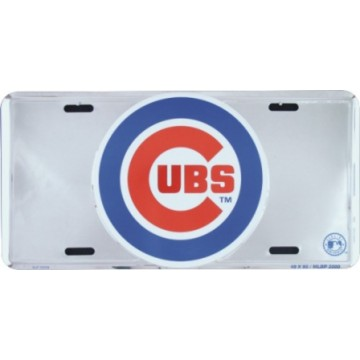 Chicago Cubs Anodized Metal License Plate