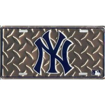 New York Yankees (Diamond) License Plate