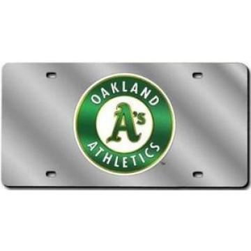Oakland Athletics Silver Laser License Plate