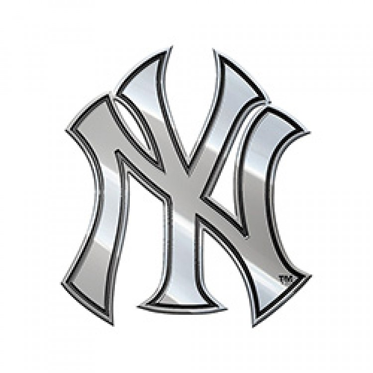 New York Yankees MLB Metal Auto Emblem