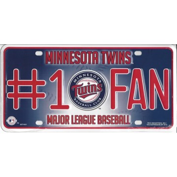 Minnesota Twins #1 Fan License Plate