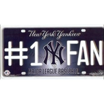 New York Yankees #1 Fan License Plate