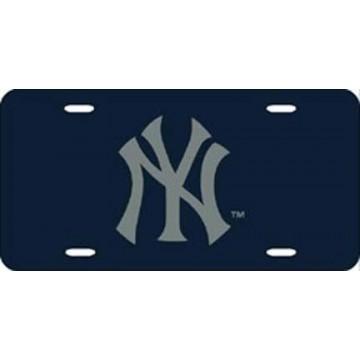 New York Yankees Blue Laser License Plate