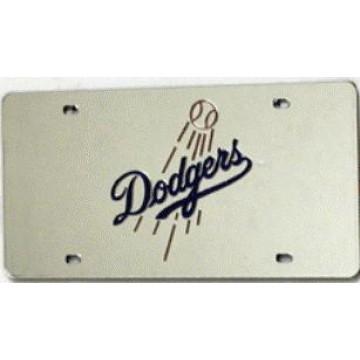 Los Angeles Dodgers Silver Laser License Plate