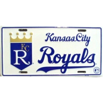 Kansas City Royals (White) License Plate