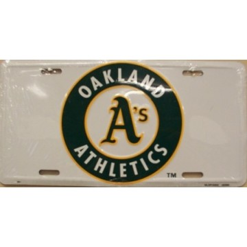 "Oakland Athletics ""A's"" License Plate"