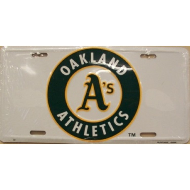 """Oakland Athletics """"A's"""" License Plate"""