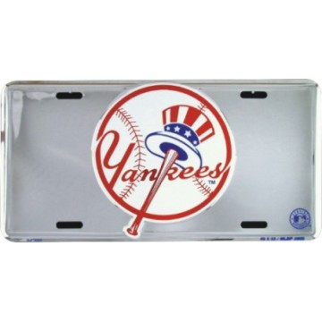 New York Yankees Anodized Metal License Plate