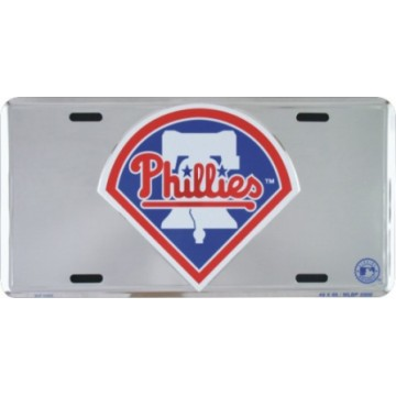 Philadelphia Phillies Anodized Metal License Plate