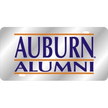 Auburn Alumni Silver Laser License Plate