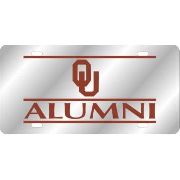 Oklahoma Sooners Alumni Sliver Laser License Plate