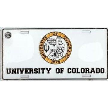 University of Colorado Metal License Plate