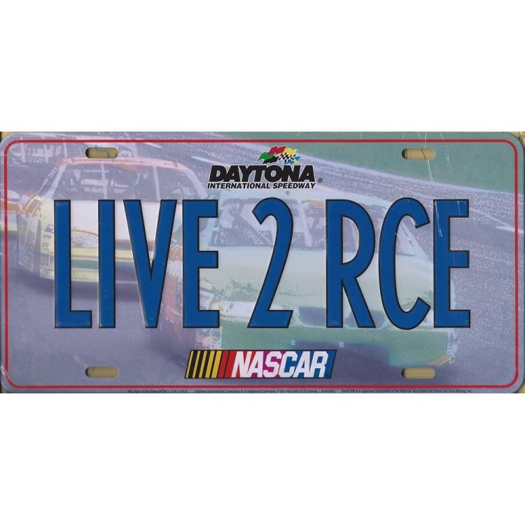 Nascar LIVE 2 RCE Metal License Plate