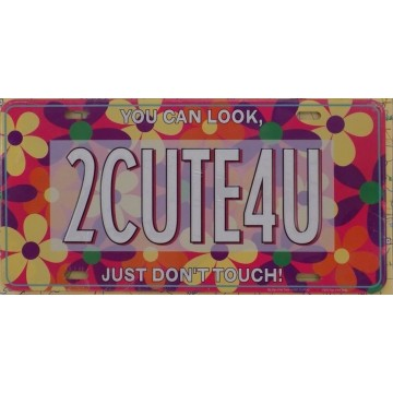 2CUTE4U Flowers Metal License Plate