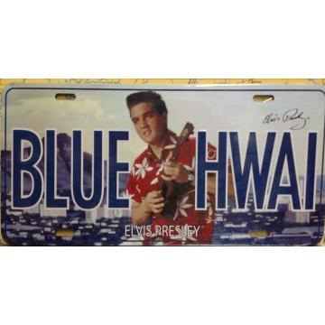 Elvis Blue Hawaii Metal License Plate
