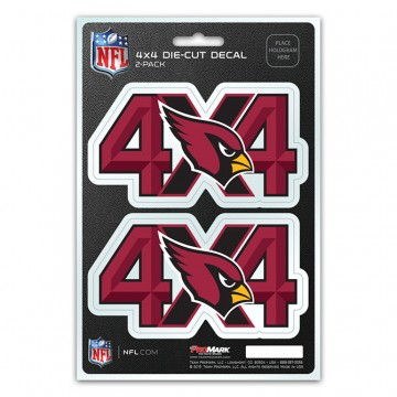Arizona Cardinals 4x4 Decal Pack