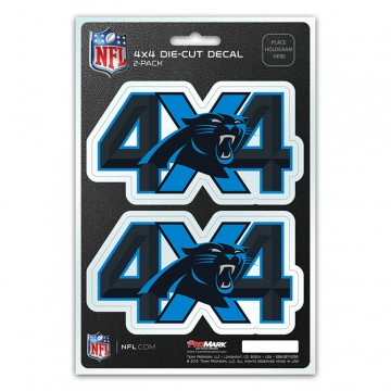 Carolina Panthers 4x4 Decal Pack