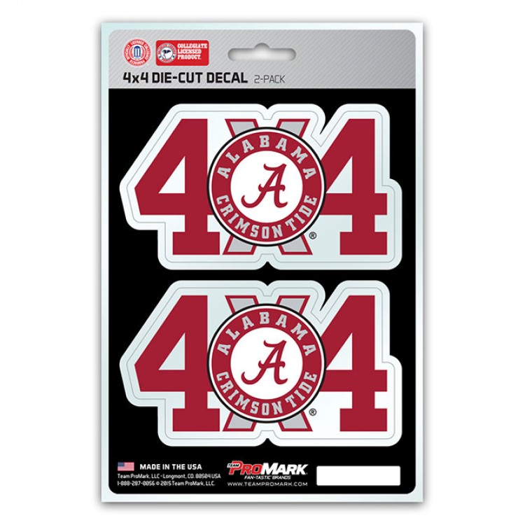 Alabama Crimson Tide 4x4 Decal Pack