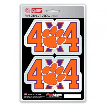 Clemson Tigers 4x4 Decal Pack