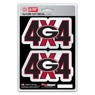 Georgia Bulldogs 4x4 Decal Pack