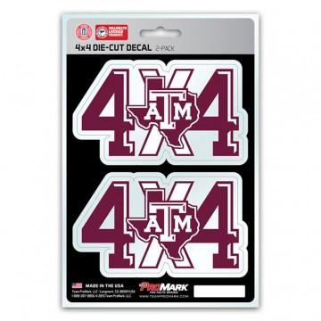 Texas A&M Aggies 4x4 Decal Pack