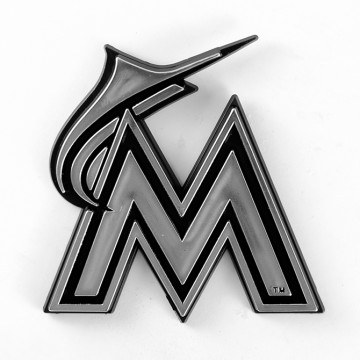 Miami Marlins MLB Chrome Auto Emblem