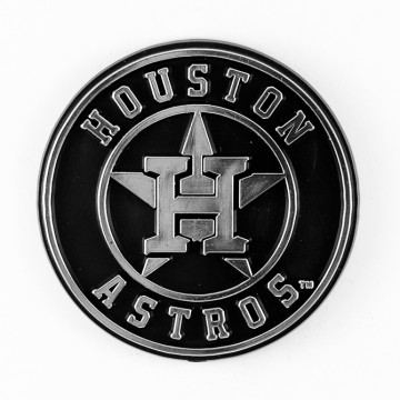 Houston Astros MLB Chrome Auto Emblem