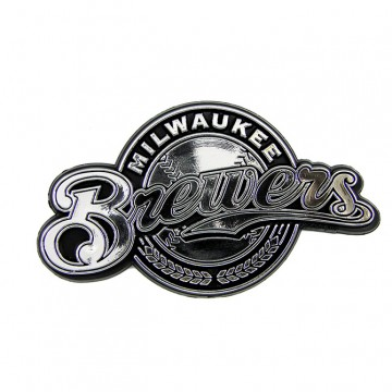 Milwaukee Brewers MLB Chrome Auto Emblem