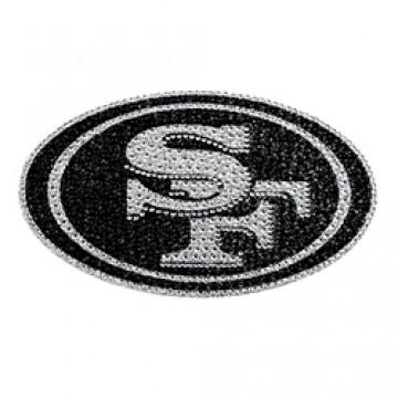 San Francisco 49ers Diamond Bling Auto Emblem