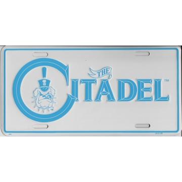 Citadel Embossed Aluminum License Plate