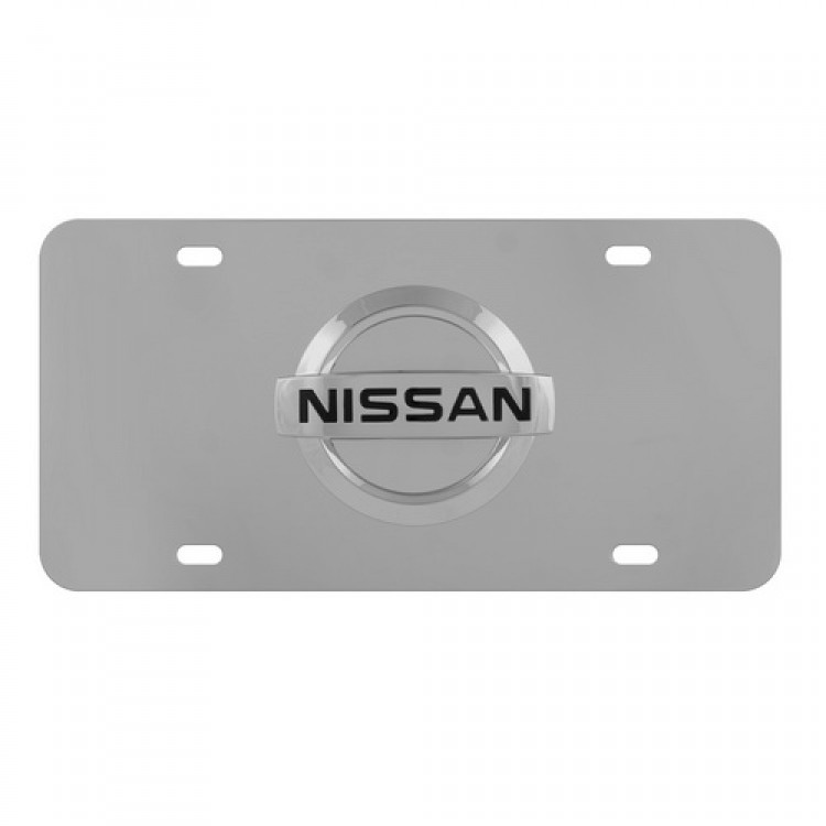Nissan Stainless Steel License Plate