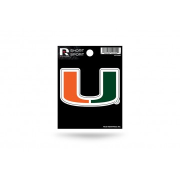 Miami Hurricanes Short Sport Decal