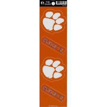 Clemson Tigers Quad Decal Set