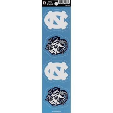 North Carolina Tar Heels Quad Decal Set