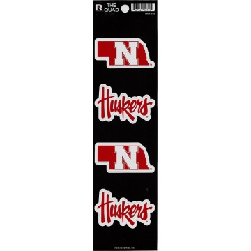 Nebraska Cornhuskers Quad Decal Set