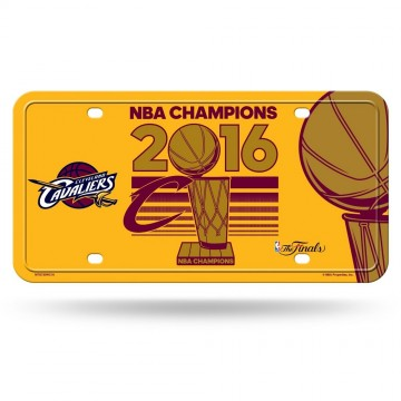 Cleveland Cavaliers 2016 Champs Metal License Plate