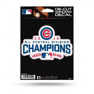 Chicago Cubs Division Champs Die Cut Vinyl Decal