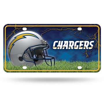 Los Angeles Chargers Metal License Plate