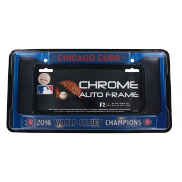 Chicago Cubs Anodized Blue World Series Champs License Plate Frame