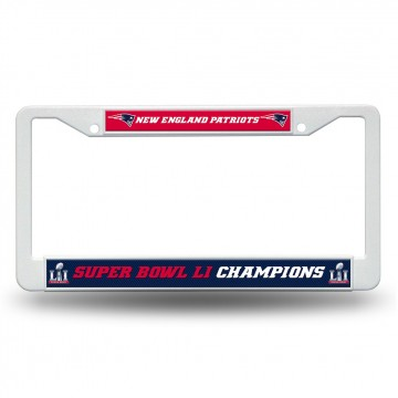 New England Patriots Super Bowl 51 Plastic License Plate Frame